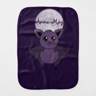 Jac the Bat Flying by night Burp Cloth