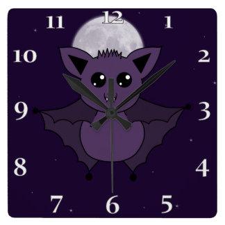 Jac the Bat Flying by night Wallclocks