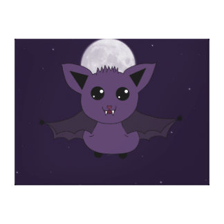Jac the Bat Good day to fly Stretched Canvas Print