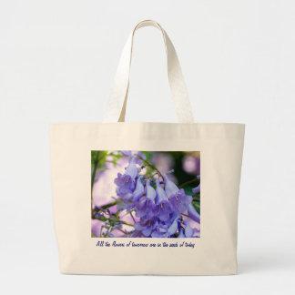 Jacaranda Blossoms Jumbo Tote Bag