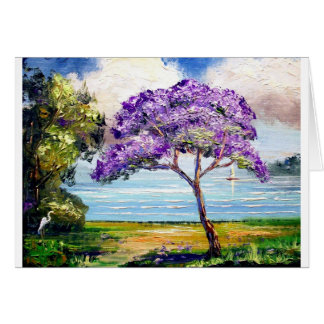 Jacaranda Tree Tropical Art Card