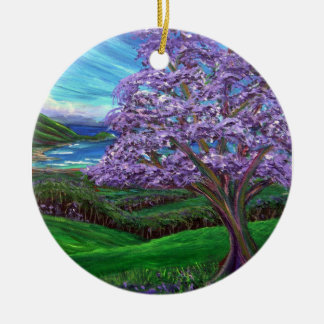 Jacaranda Upcountry Round Ceramic Decoration