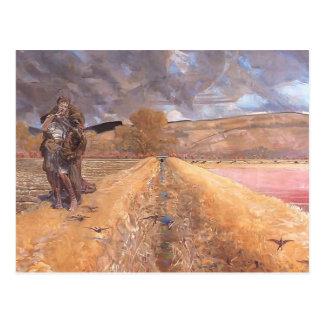 Jacek Malczewski- Saint Agnes Postcard