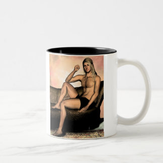 Jacen Fantasy Male Pinup Art Two-Tone Coffee Mug