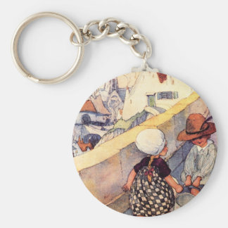 Jack and Jill Basic Round Button Key Ring