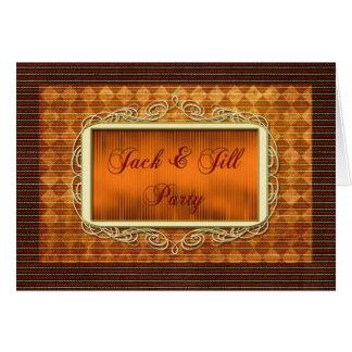 Jack and Jill Party Invitation Greeting Card