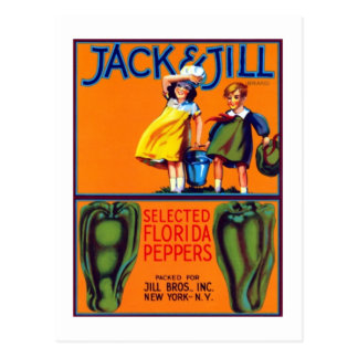 Jack and Jill Peppers Postcard