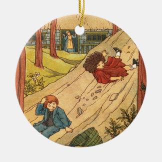 """Jack and Jill"" Round Ceramic Decoration"