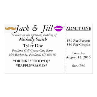 Jack and Jill Tickets Pack Of Standard Business Cards