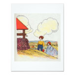 Jack and Jill went up the hill 11 Cm X 14 Cm Invitation Card