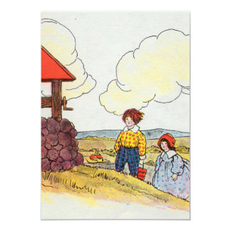 Jack and Jill went up the hill 13 Cm X 18 Cm Invitation Card