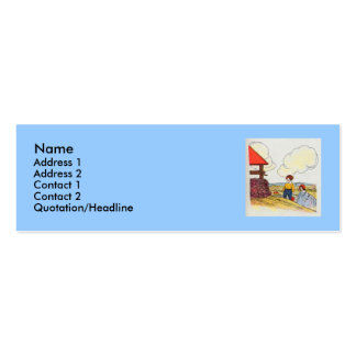 Jack and Jill went up the hill Business Card Templates