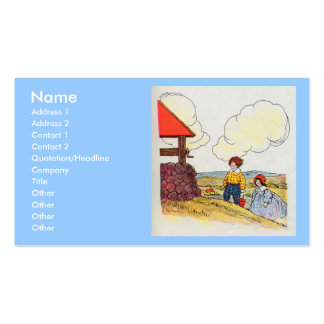 Jack and Jill went up the hill Business Card Template