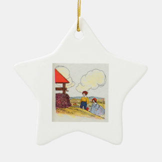 Jack and Jill went up the hill Ceramic Star Decoration