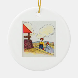 Jack and Jill went up the hill Christmas Ornaments