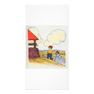Jack and Jill went up the hill Photo Greeting Card