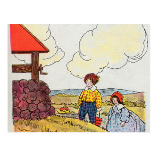 Jack and Jill went up the hill Postcard