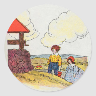Jack and Jill went up the hill Round Sticker