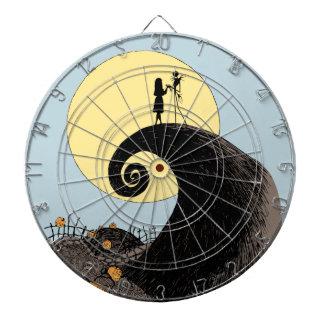 Jack and Sally | Moon Silhouette Dartboard