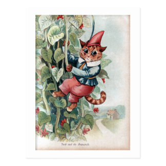Jack and the Beanstalk, Louis Wain Postcard