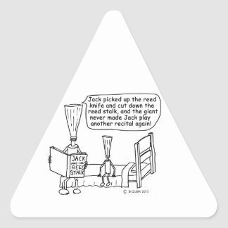 Jack and the Reed Stalk Triangle Sticker