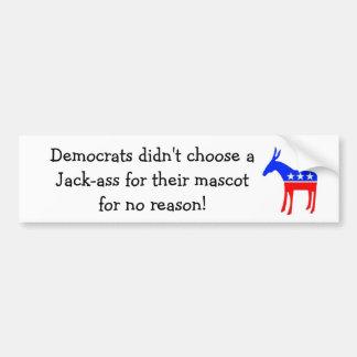 Jack-ass mascot bumper sticker