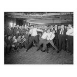 Jack Dempsey Mock Fighting Against Harry Houdini Postcard