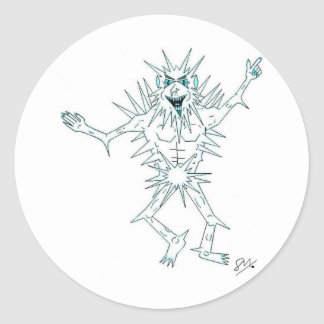 Jack Frost Classic Round Sticker