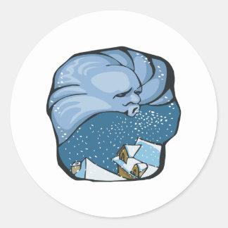 Jack Frost Round Sticker