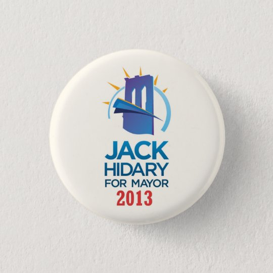 Jack Hidary for Mayor of NYC in 2013 3 Cm Round Badge
