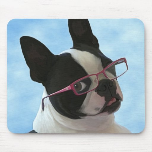 Jack in glasses mouse pads