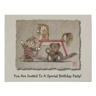 Jack in the Box, Horse & Bear 11 Cm X 14 Cm Invitation Card