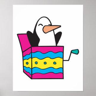 jack in the box penguin poster