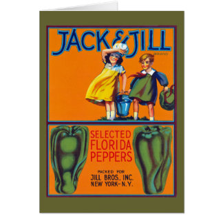 Jack & Jill Florida Peppers Greeting Card