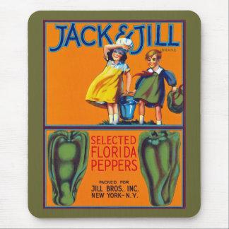 Jack Jill Florida Peppers Mousepad