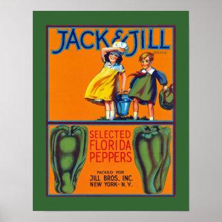 Jack Jill Florida Peppers Print