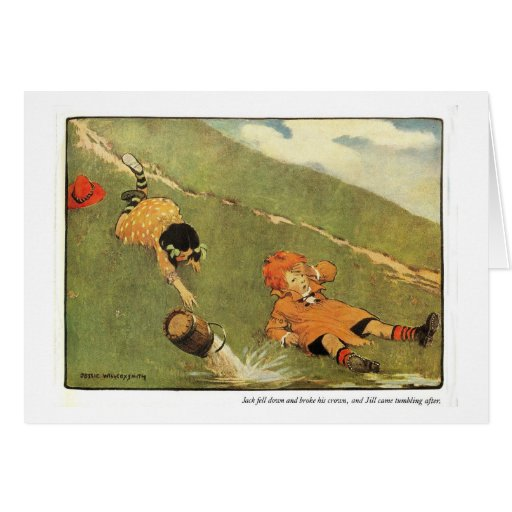 Jack & Jill Nursery Rhyme - Card