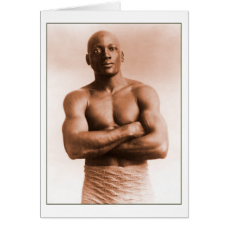 Jack Johnson American Boxer Note Card