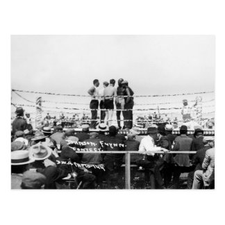 Jack Johnson vs. Fireman Jim Flynn Boxing: 1912 Postcard