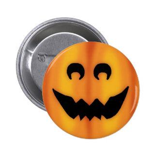 jack o' lantern 6 cm round badge