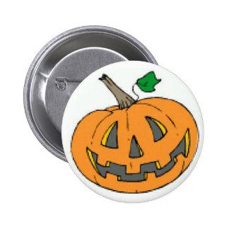 Jack o lantern 6 cm round badge
