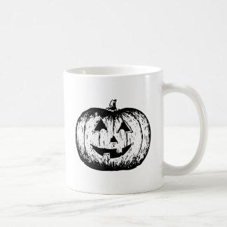 JACK-O-LANTERN (a black & white design) ~ Basic White Mug