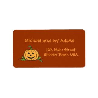 Jack O Lantern Avery Label Address Label
