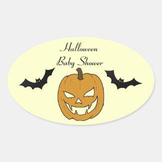 Jack O lantern Baby Shower Stickers