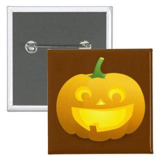 Jack - O - Lantern 15 Cm Square Badge