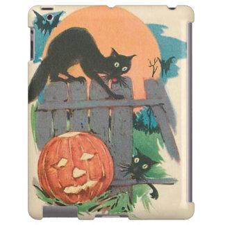 Jack O' Lantern Black Cat Bat Full Moon iPad Case