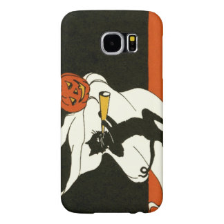 Jack O' Lantern Black Cat Ghost Horn Samsung Galaxy S6 Cases