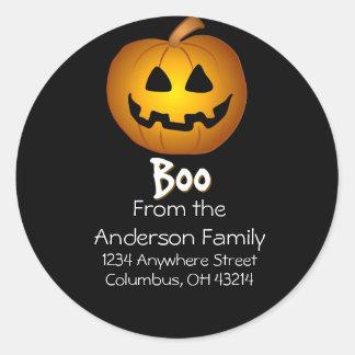 Jack O Lantern Boo Address Labels