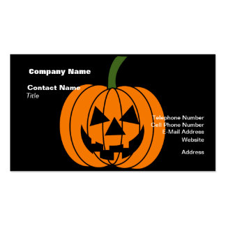 Jack O Lantern Business Cards