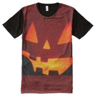 Jack O Lantern Close-Up All Over All-Over Print T-Shirt